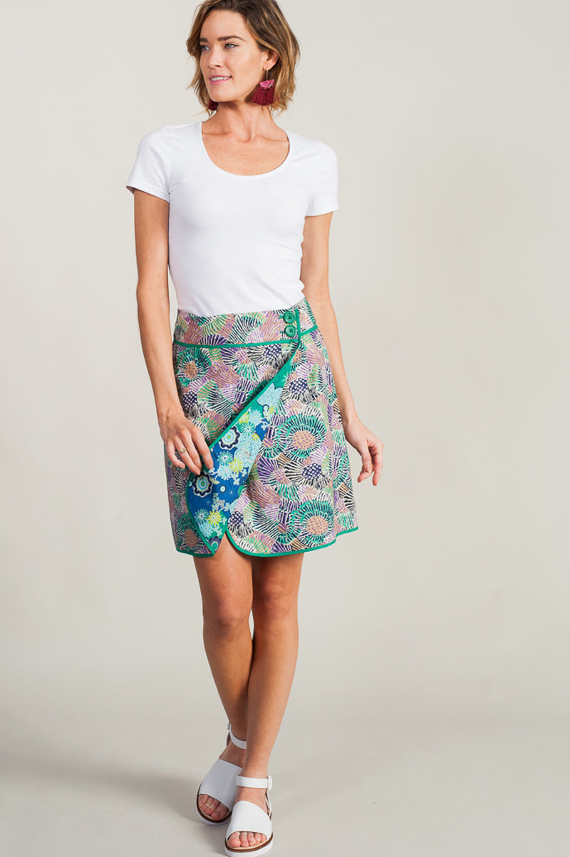 Reversible Alex Skirt Ocean