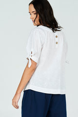 Ruby Top Embroidered Spot