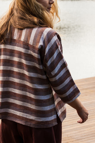 Tina Top Autumnal Stripe