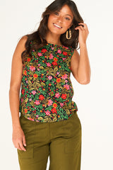 Thelma Tank Wildflower Black