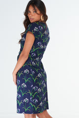 Tommy Dress Agapanthus Navy