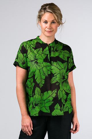 Naples Top Hibiscus Green
