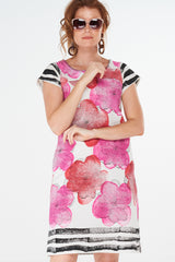 Tori Dress Rose Pink Flower