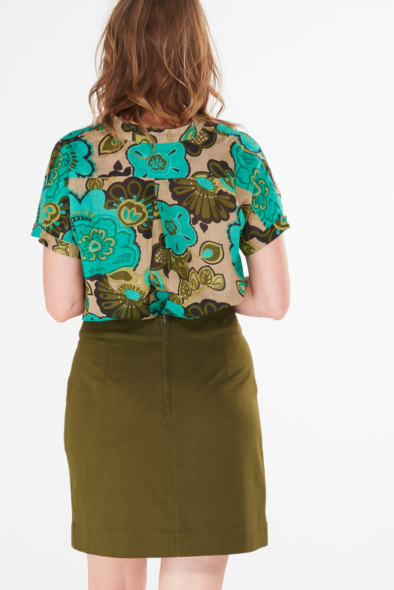 Verona Skirt Mossy Green