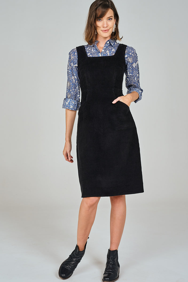 Ziggy Pinafore Black