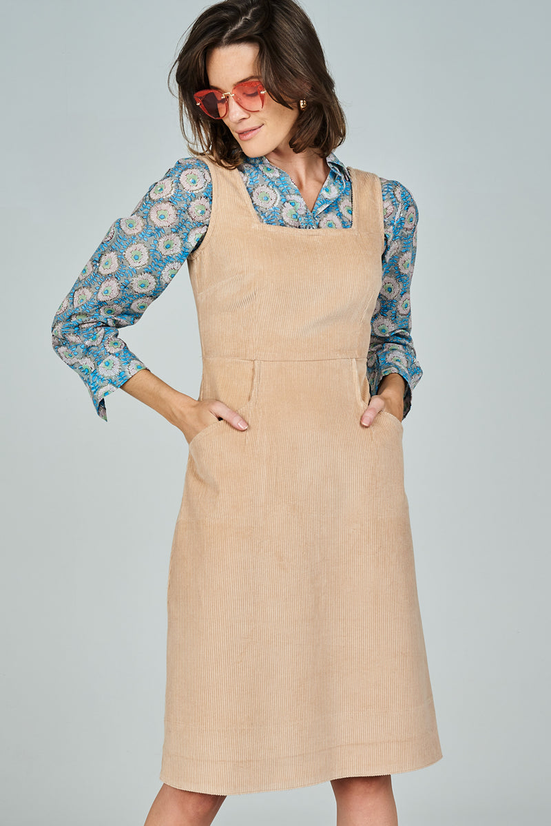 Ziggy Pinafore Camel