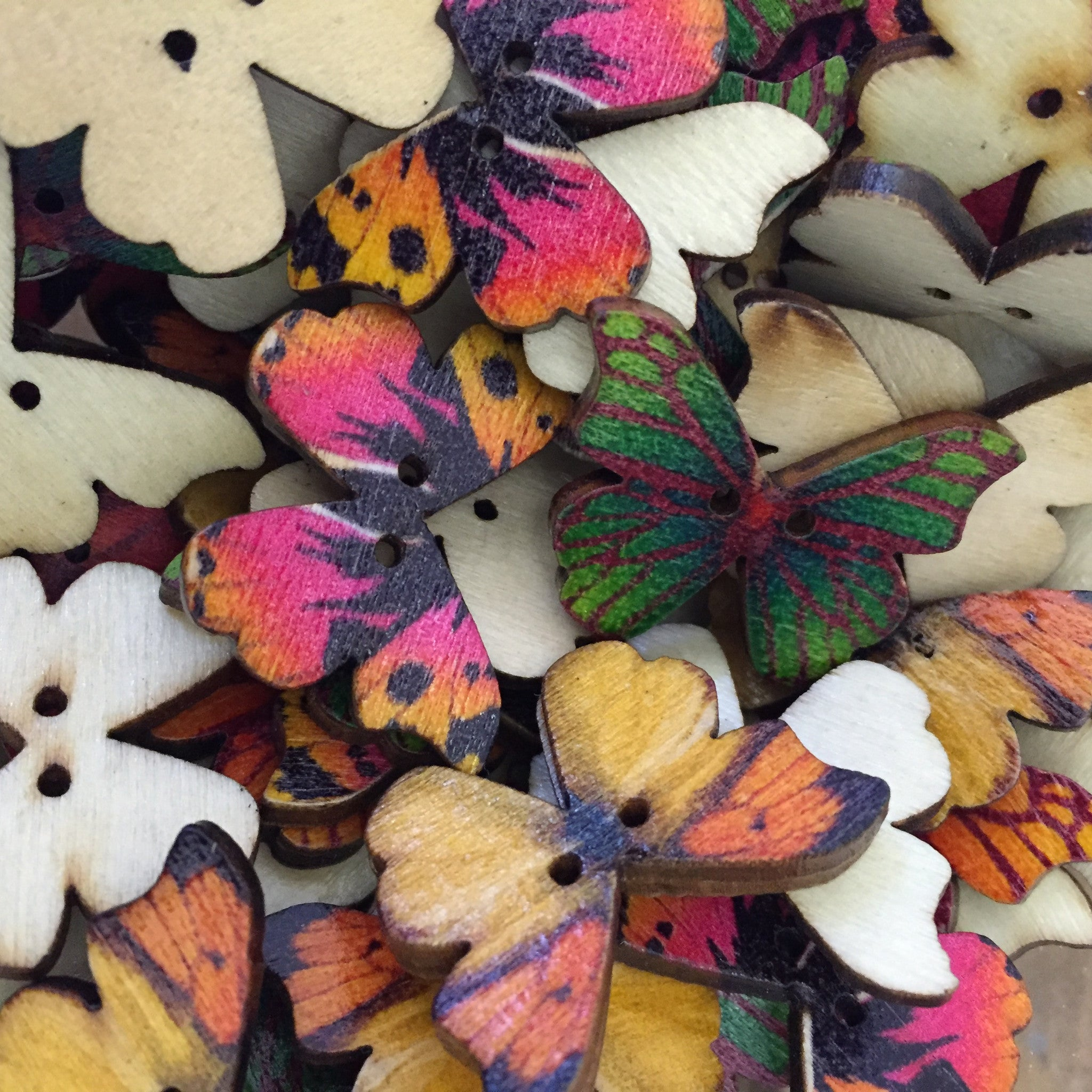 Butterfly Buttons 10 Pack