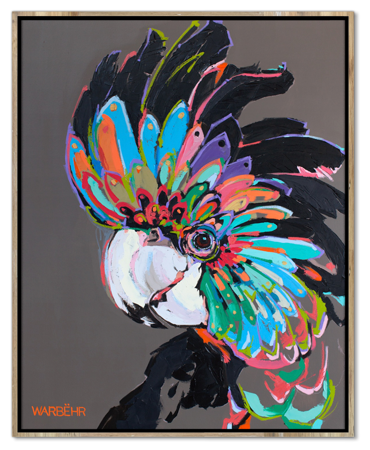 Black Cockatoo on Putty Art Print