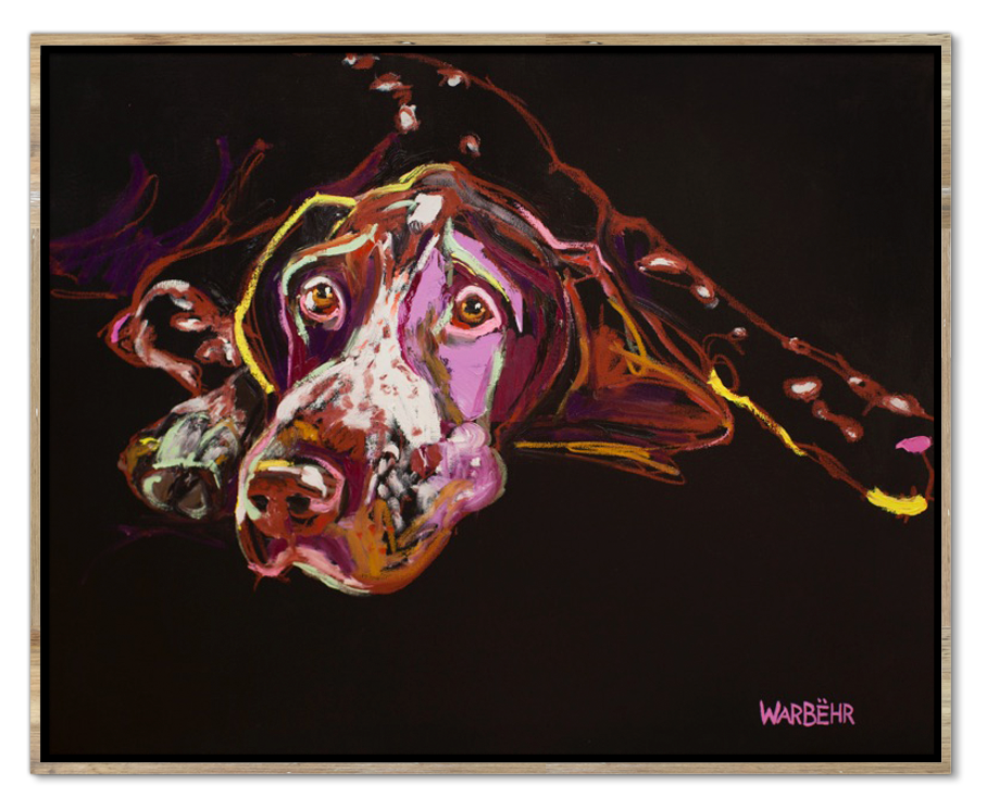 Faithful Pointer Art Print