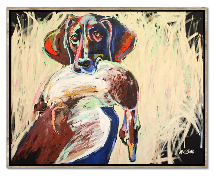Hunting Dog with Fowl Art Print