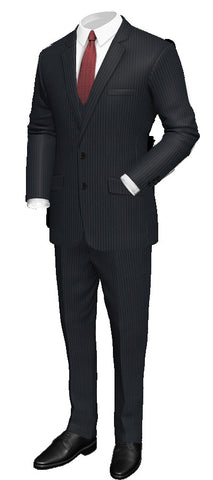 Millionaire Status Custom Made 3 PC. Pinstripe Suit/wool 100%