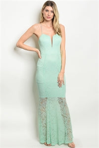 Sleeveless Lace Maxi Gown