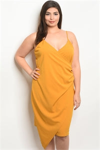 Sleeveless V-Neck Dress/Plus Size