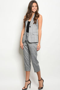 Sleeveless Vest and Pants Set