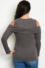 Open Shoulder Top/Plus Size Only/Online