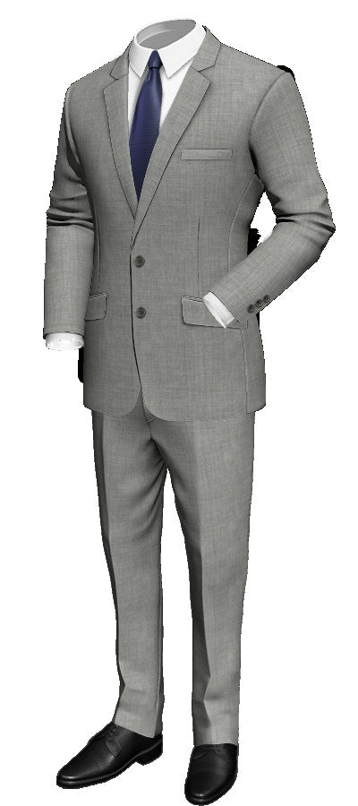 Millionaire Status Custom Made Grey Wool Suit