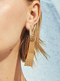 Long Gold Alloy Earrings