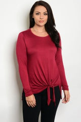 Scoup Neck Top/Plus Size Only/Online
