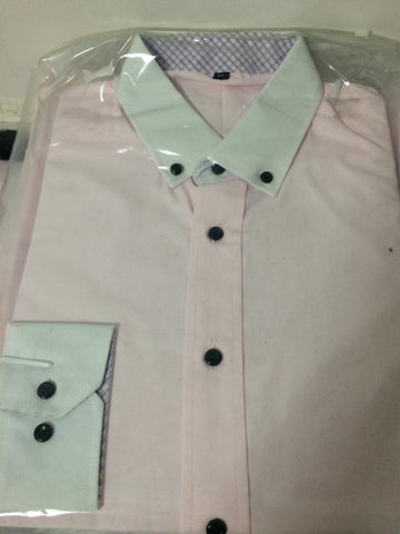 M Status Light Pink Formal/Dress Shirt