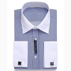 Long Sleeve French Cuff Dress Shirts (plus sizes)