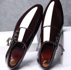 Men dress Oxford Patent Leather Shoes