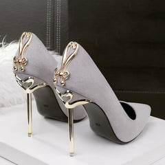 Ladies Metal Heel Pumps
