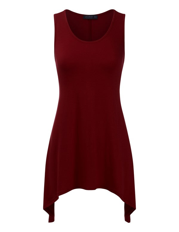 Round Neck Tunic Tank Top
