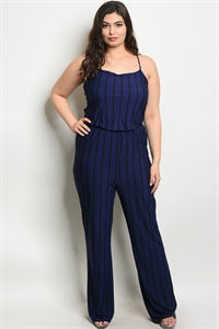 Royal & Black Jumpsuit/Plus Size