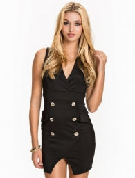 V Neck Blazer Dress/Online
