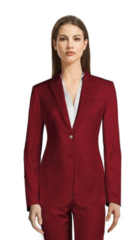 Women's Mulberry Corporate Pant Suit/Custom Made