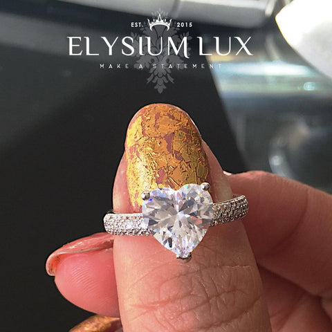 Dubai heart bling ring - Elysium Lux  - 1