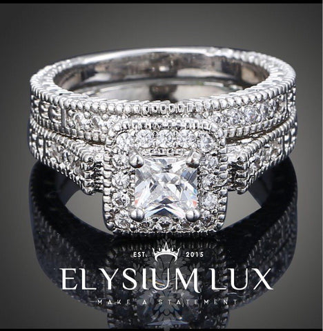 Zara Deluxe Twin Set Ring - Elysium Lux  - 1