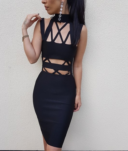 Ariya Dress in Black - Elysium Lux  - 1