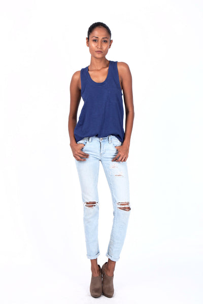 BandraRoad Scoop Back Tank - Navy