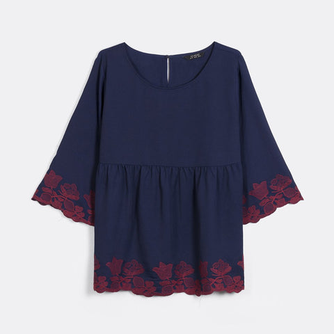 7eea98af39c Contrast Embroidered Tunic by MS. READ Malaysia (plus size clothing ...