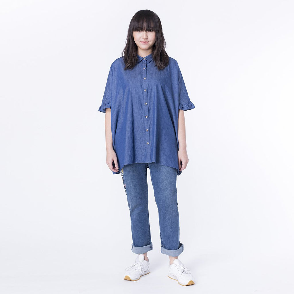 Frilly Chambray Kaftan