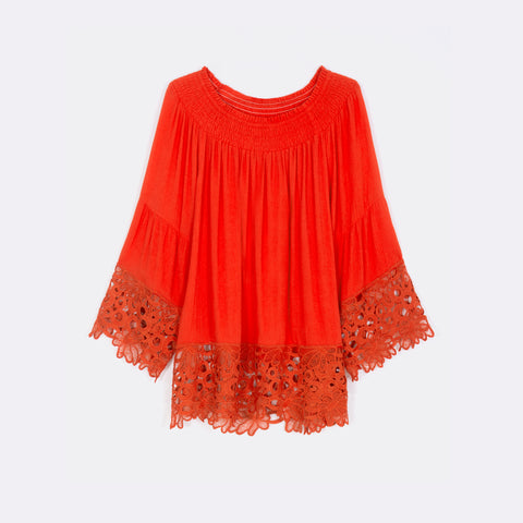 Lace Hemmed Top