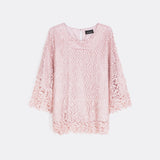 Lace Boat Neck Top