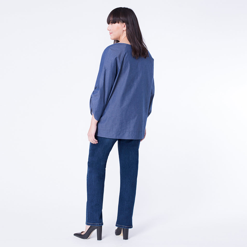 Tabbed-Sleeve Top