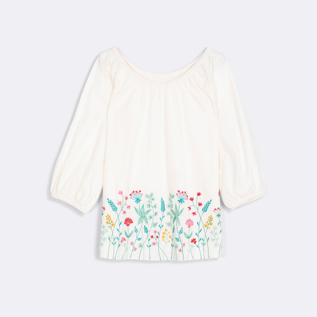 Hem Embroidered Top