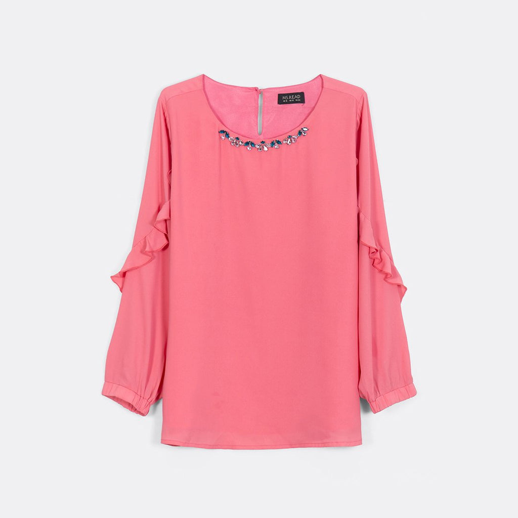 Frilly Embellished Top