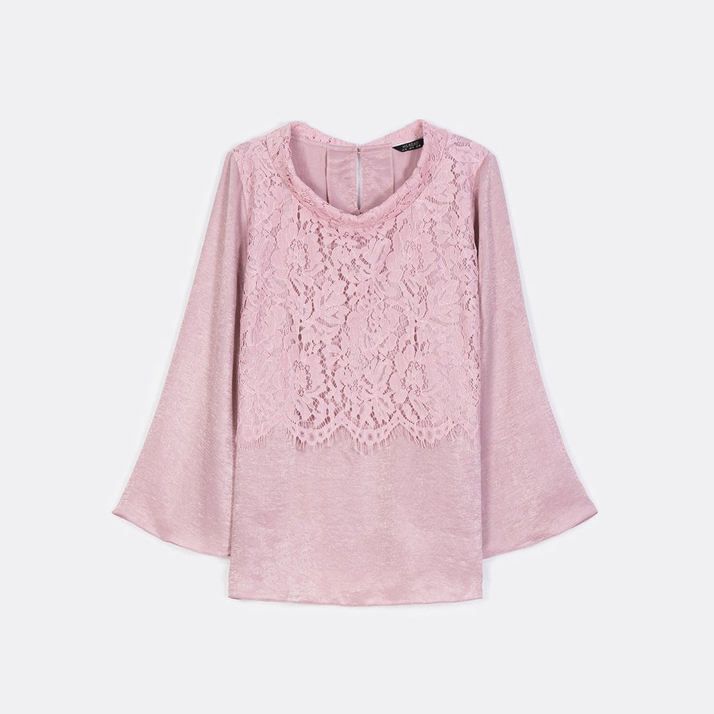 Lace Roll Collar Top