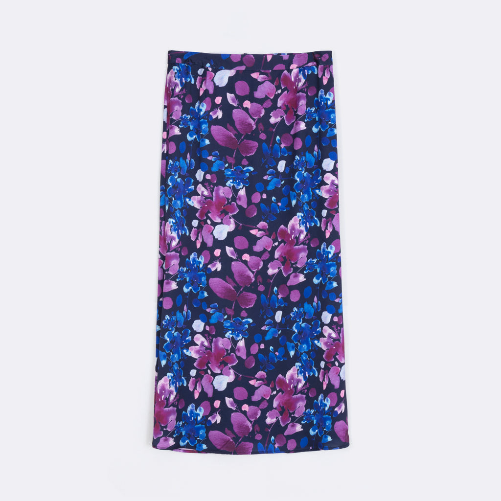 Printed Fit & Flare Skirt