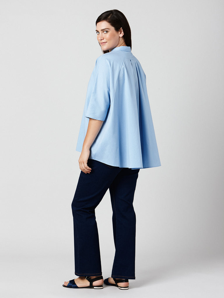 A-LINE COLLARED TOP
