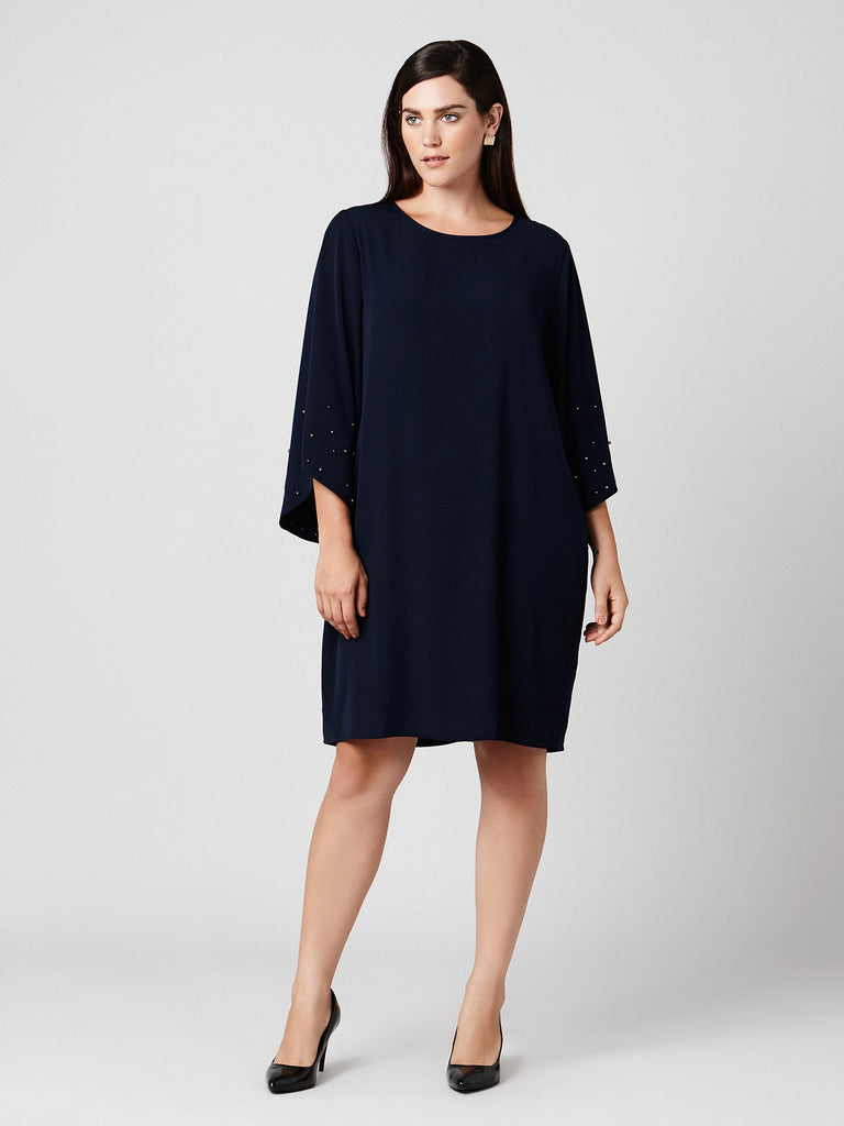 FLARE SLEEVES DRESS