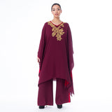 Layered Embroidered Kaftan
