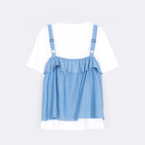 Twin Frilly Top
