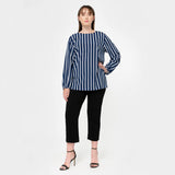 Stripe Puffed Sleeve Top