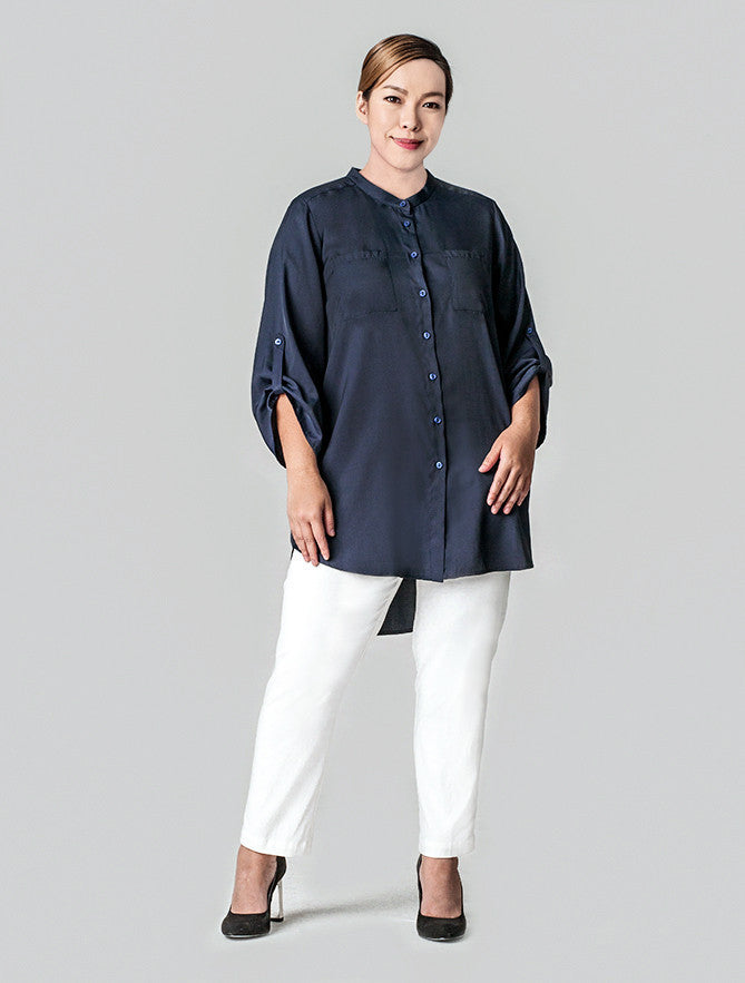 HIGH-LOW HEM SHIRT