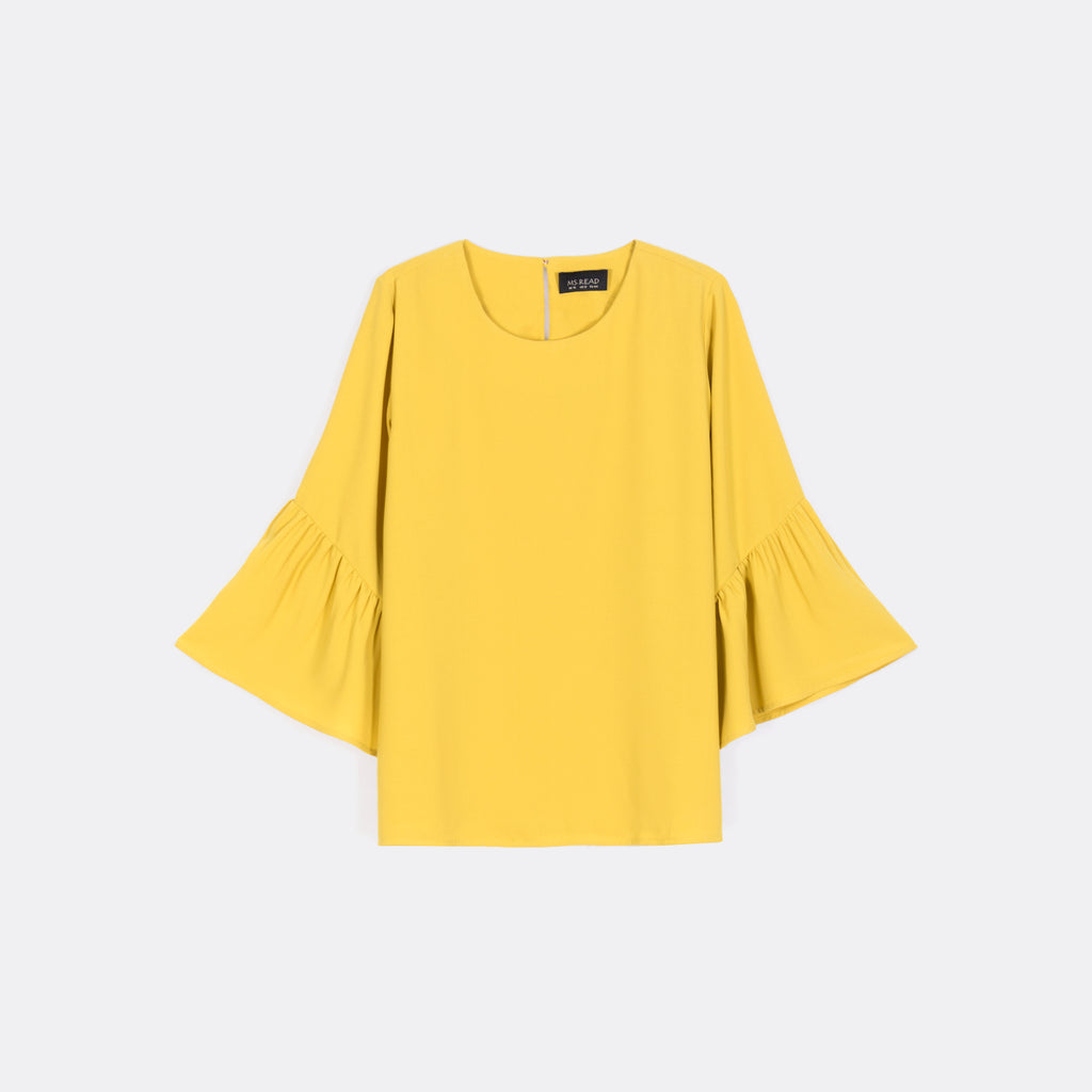 Gathered Bell Sleeve Top